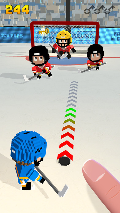 Blocky Hockey – Arcade Ice Runner